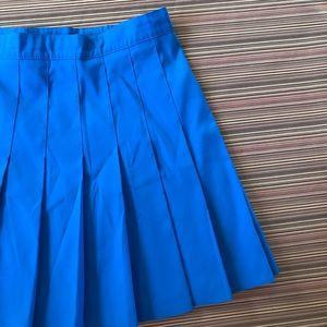 Vintage Cerulean Cheer Pleated Skirt